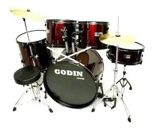 Batería acústica 5 piezas godín percusión