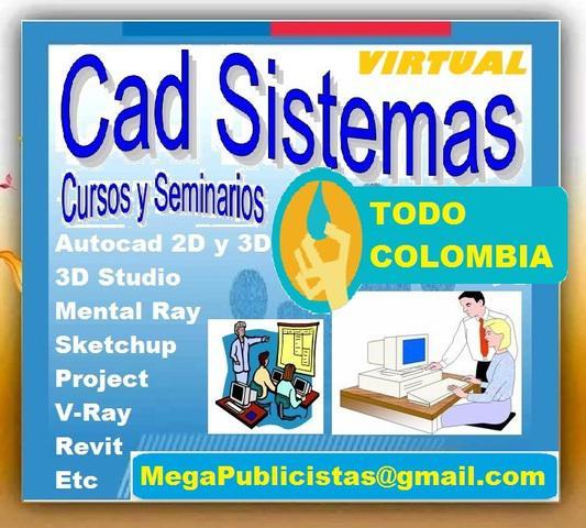 Curso virtual, autocad, 2d, 3d, studio max, mental ray,