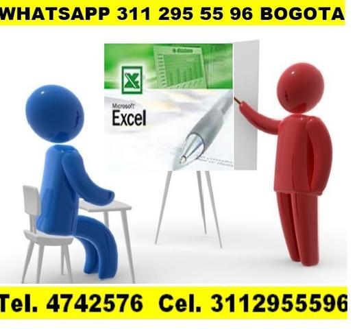 Curso, taller, asesorías, clases excel básico, intermedio