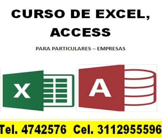 Excel – access, vba tablas dinámicas, asesorías, clases,