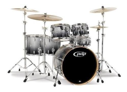Pacific drums pdcm2216sb drumset de 6 piezas con hardware