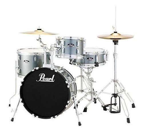 Pearl Rs584cc706 Roadshow Drum Set De 4 Piezas, Carbón