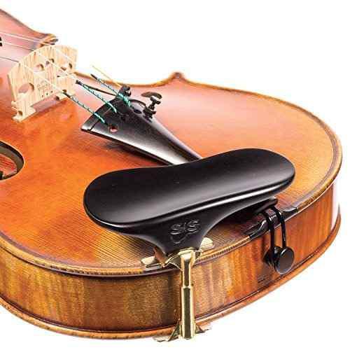 Sas chinrest ébano 3 / 4-4 / 4 violín o viola altura pla