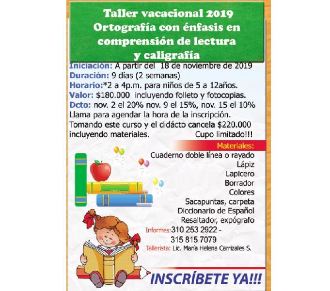 Talleres vacacionales para niños