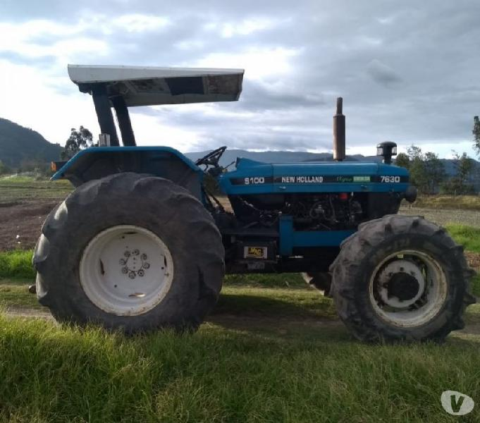 Tractor new holland,7630 modelo 2005,105hp