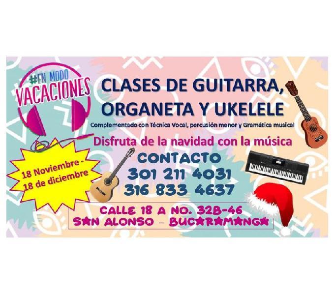 Vacaciones musicales guitarra, organeta, ukelele