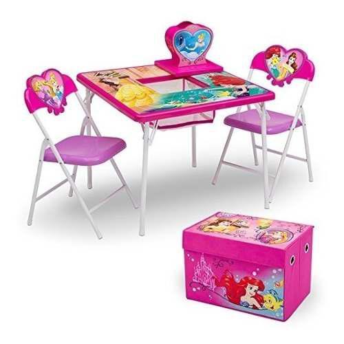Delta juego de muebles para ninos 4 piezas mesa de almacenam