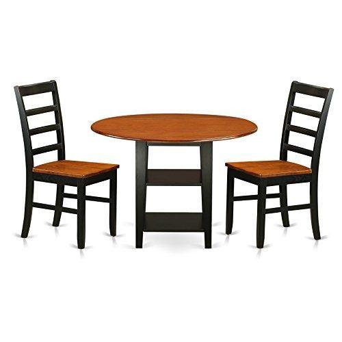 Muebles del este oeste supf3bchw sudbury juego de mesa 3 pie