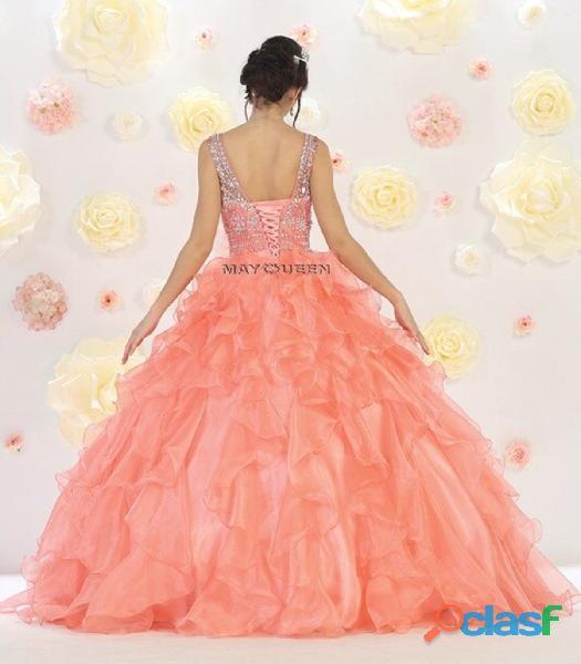 May queen couture ALquiler vestido quince años color salmon $300.000 3