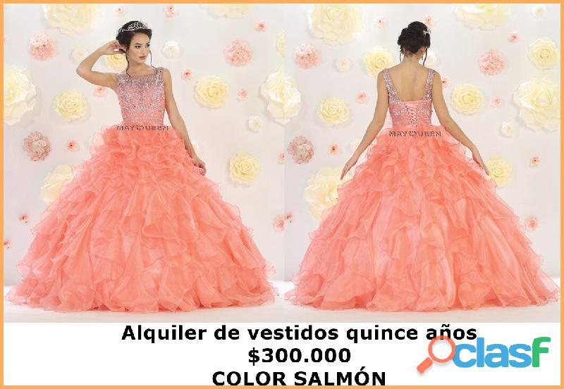 May queen couture ALquiler vestido quince años color salmon $300.000 2