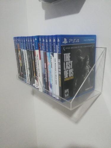 2 repisas línea eco 20 juegos + soporte para consola ps4