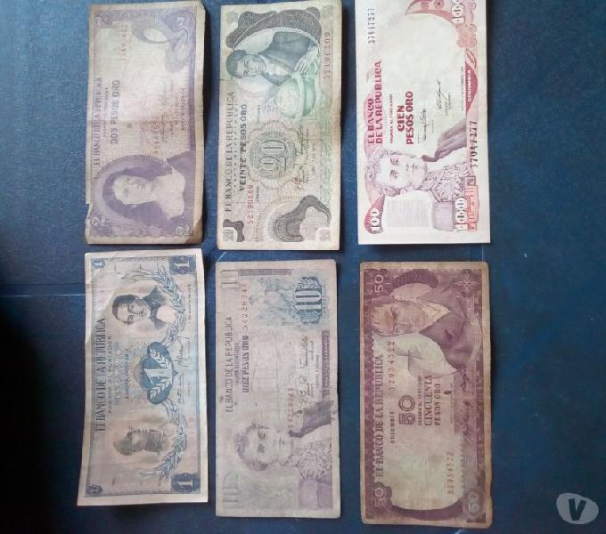 Billetes antiguos coleccionables
