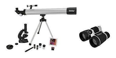 Vivitar Vivtelmic40blk Telescopio Microscopio Y Binocular Ki