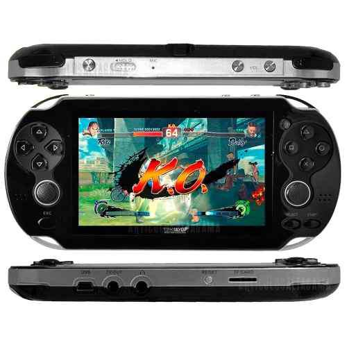 Consola psp mp5 juegos camara emulador mp3 pantalla 4.3 /8gb