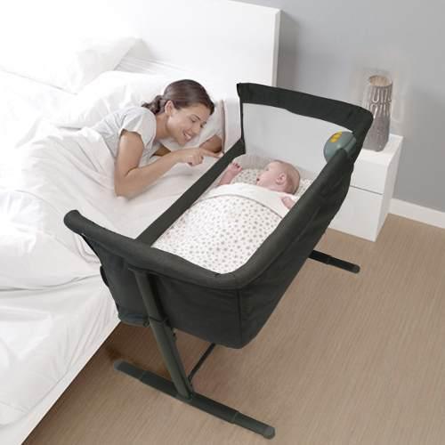 Cuna colecho para bebe marca happy baby con mosquitero