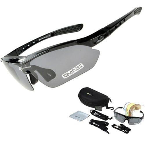 Gafas ciclismo rockbros kit 5 lentes polarizadas uv400 + acc