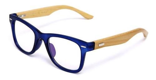 Marco lentes montura miopía astigmatismo gafas madera bambu