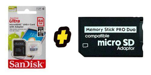 Memoria psp 64 gb + 1000 juegos instalados envio gratis