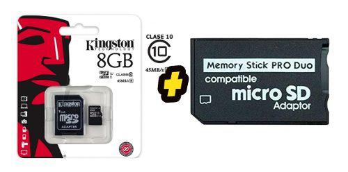Memoria psp 8 gb + 100 juegos instalados