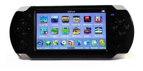 Psp mp5 juegos camara mp3 pantalla 4.3 memoria 8gb promo