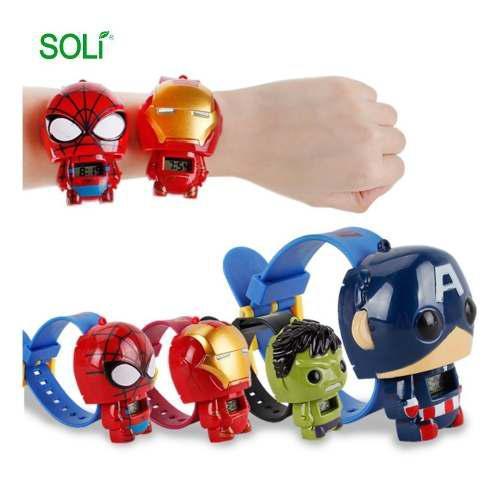 Reloj para niños super heroes