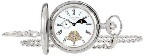 Charles-hubert, Paris Reloj De Bolsillo Mecánico De Acero