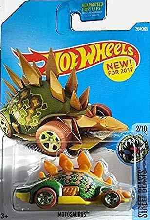 Hot wheels 2017 bestias motosaurus la calle dinosaurio car 2