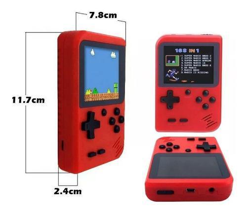 Mini consola retro portatil tipo game boy 400 juegos play