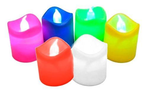 6 velitas decorativas vela led pila duradera eventos mnr