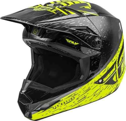 Casco fly kinetic k120 hi vis motocross-enduro-atv-street