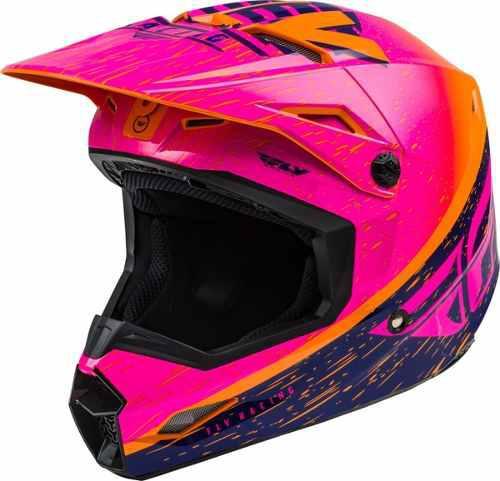 Casco fly kinetic k120 rosa motocross-enduro-atv-street