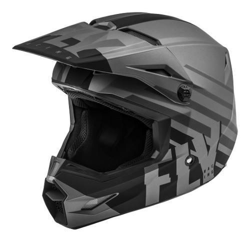 Casco Fly Kinetic Thrive Gris Mate Motocross-enduro-atv