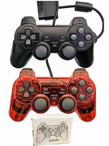 Consola de juegos con cable saloke para ps2 double shock