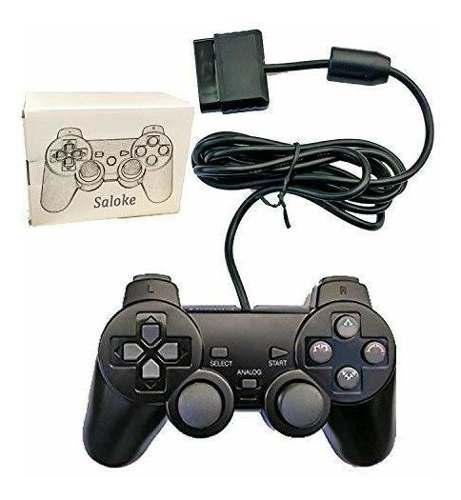 Consola para juegos con cable saloke para ps2 double shock
