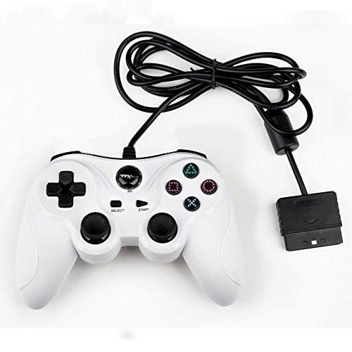 Controlador con cable ttx ps2 - blanco - playstation 2