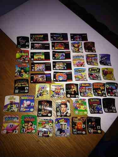 Labels caratulas n64,snes,sega,nes,wii,3ds,ps2