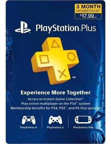 Playstation plus 3 meses código americano. ps4, ps3, ps