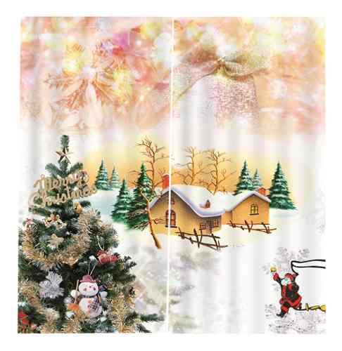 2x Navidad Temáticas Ventana De La Puerta Cortinas Persiana