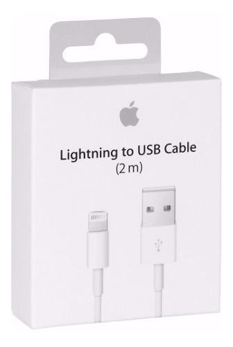 Cable datos cargador lightning usb iphone 6 7 8 x ipad 2mts