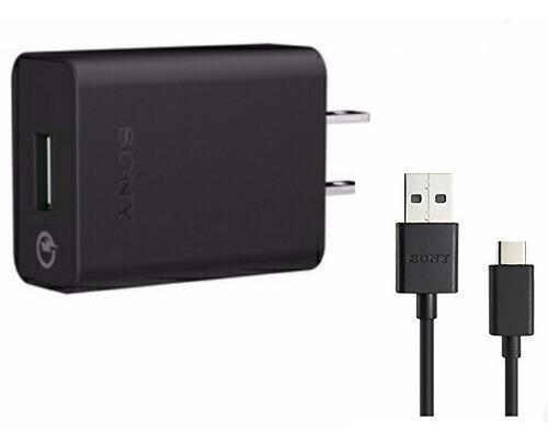Cargador De Pared Sony Xperia Uch12 + Cable Usb Tipo C