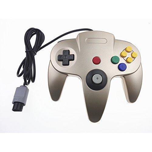 Controlador clásico genérico para nintendo 64 n64 gold