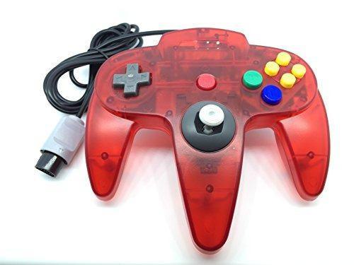 Controlador clásico genérico para nintendo 64 n64 - rojo