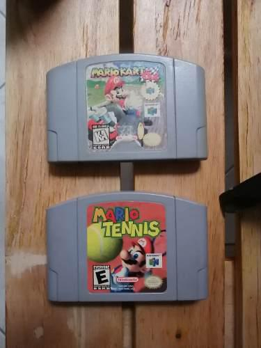 Mario kart + mario tennis nintendo 64 n64