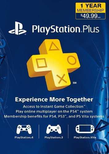Playstation plus 1 año ps4, ps3, psvita envio inmediato