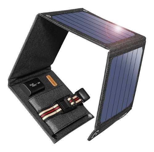 Portatil cargador solar suaoki plegable 14w 4 paneles usb 2a