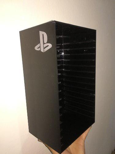Repisa base pared en torre 15 juegos ps3, ps4, xbox one