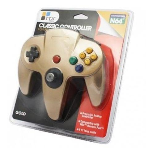 Ttx n64 - controller og - gold - nintendo 64