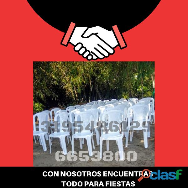 Alquiler de sillas plásticas 3195486129 6653800