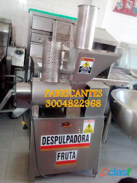 Despulpadora para frutas, dosificadora frutas, marmitas, estufas, lavadora de botellas