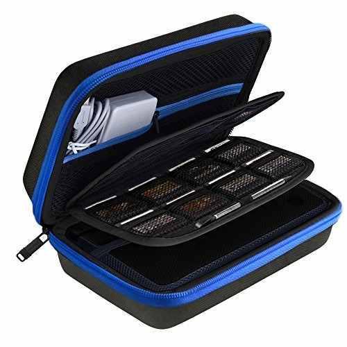 Estuche austor para nintendo 3ds xl (negro + azul)